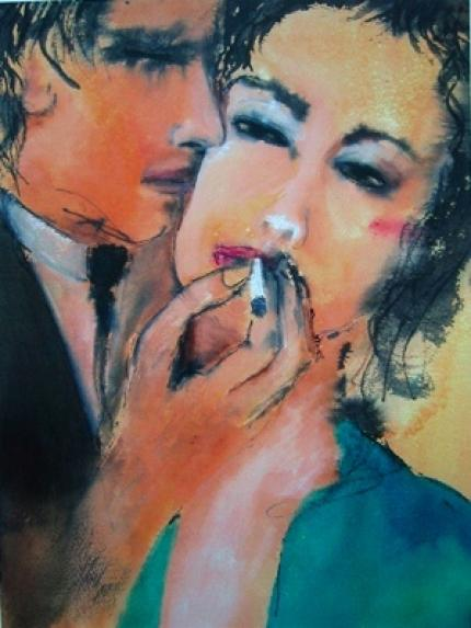 Smoking Couple